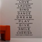 Wall Verses | Live Laugh & Love wall art quote sticker vinyl kitchen bedroom lou...