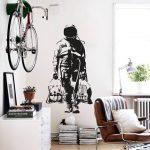 Wall decal BANKSY ASTRONAUT, Street Art Sticker, Spaceman, Graffiti, banksy wall art, urban interior design, banksy decal, urban decor