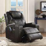 Waterlily Rocker Recliner w/ Swivel (Motion) in Black Bonded Leather Match - Acme Furniture 59277