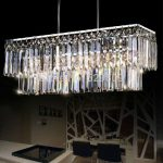 Wholesale Rectangle Design Modern Crystal Chandelier For Dining Room Lustres E Pendentes Indoor Lighting Guaranteed 100% Glass Chandelier Drum Chandelier From Happylights, $441.06| DHgate.Com
