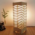 Wooden lamp shade bedroom handmade living room table lamp modern bedside lamp Christmas wood xmas gifts for home