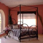Wrought Iron Alexander Canopy Bed