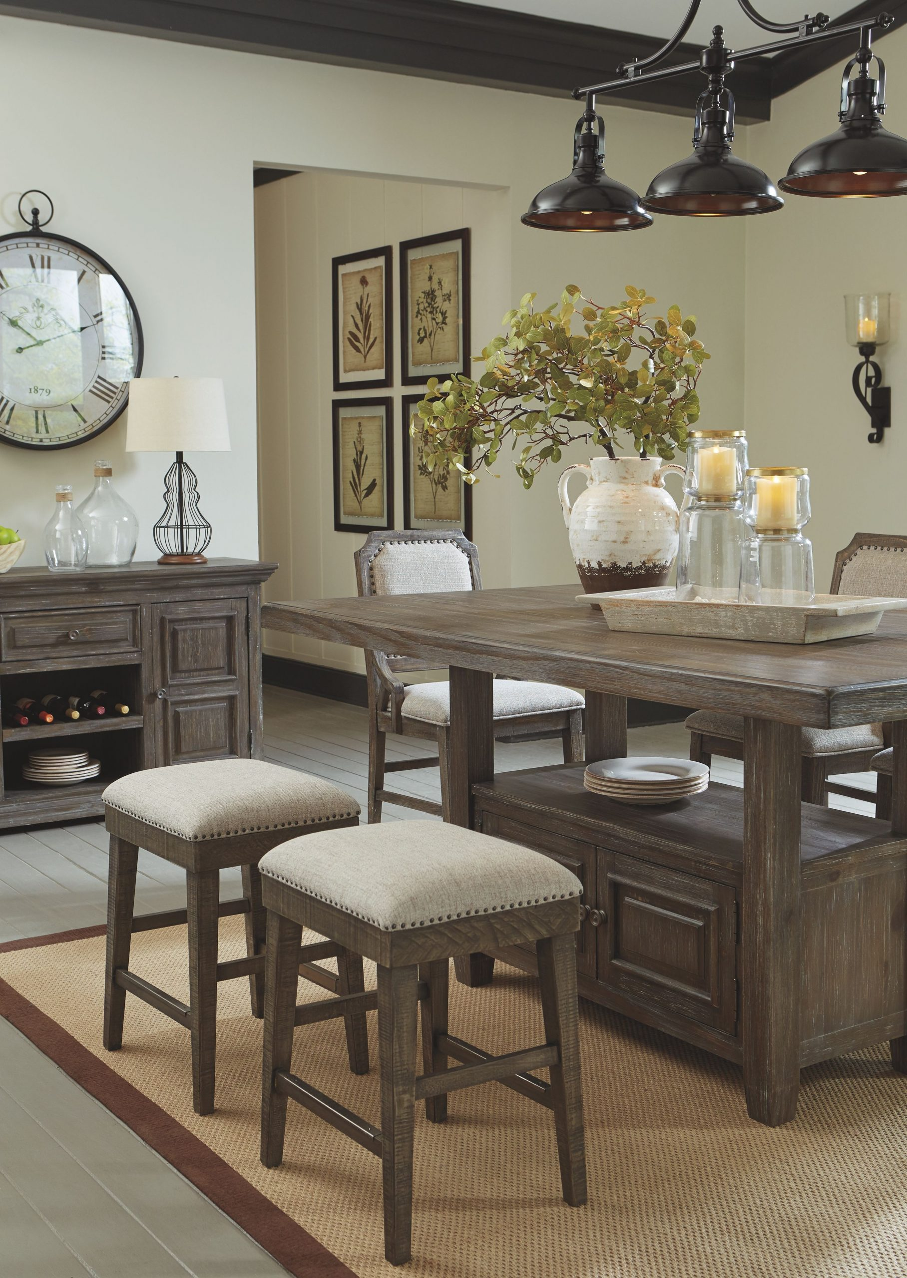 Wyndahl Counter Height Dining Room Table, Rustic Brown