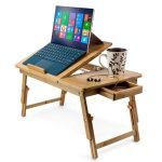 Zimtown Nature Bamboo Folding Laptop Computer Notebook Table Bed Desk Tray Stand - Walmart.com