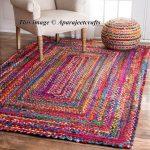 braided rectangle rugs RAG RUG meditation mat mandala rugs bohemian decor colourful area rugs home decor rugs floor rugs Area rugs 6x9 feet