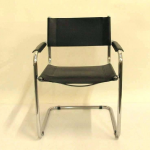 chrome leather dining chairs mid century modern four leather and modern leather ...