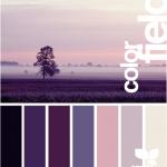 colour palette idea for bedroom - cream walls with dark purple accents, furnitur...
