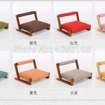 japanese chair with Linen Cushion Meditation Chair with Back Support Asia Traditional Tatami Floor Legless Chair Seating Cushion