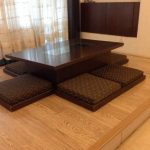 japanese dining table japanese low dining table with laminate flooring and brown colors BWSEHNT - Home Decor Ideas