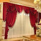 luxury curtain head pleated drapes tulle Engineering curtain cloth customized     eBay