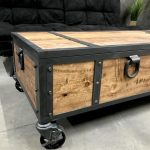 rustic,wood coffee table with wheels and handles,wood trunk with vents, locking vintage style wood and steel chest,locking wood chest