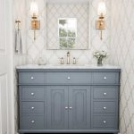 stufurhome 48 in. Abigail Embellished Single Sink Vanity in Grey with Marble Vanity Top in Carrara with White Basin-HD-1013G-48-CR - The Home Depot