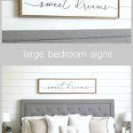sweet dreams sign   bedroom wall decor   master bedroom decor   wood framed sign   bedroom wall art   master bedroom sign