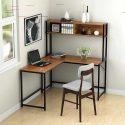 L Shaped Corner Computer Desk With Hutch